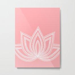 Decorative Lotus Flower Metal Print