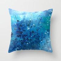 fireflies Throw Pillows featuring Fireflies by Deborah Lehman