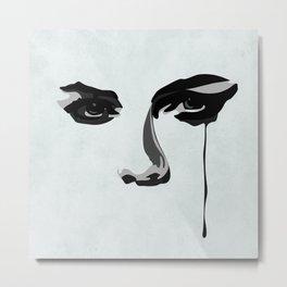 Black Tears Metal Print