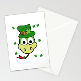 Leprechaun Snake- St. Patricks Day Stationery Cards