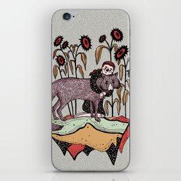 Abrazo florido iPhone Skin