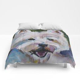 Westie Impressionism Pet Portrait Larsen 1 Comforters