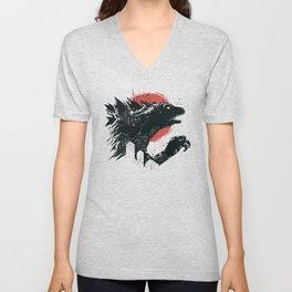 Godzilla Unisex V-Neck