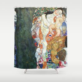 Gustav Klimt Death And Life Shower Curtain