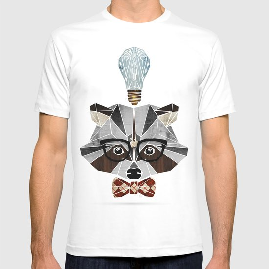 raccoon nerd T-shirt