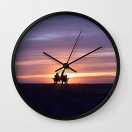 Lovers on Venice Beach, California Wall Clock