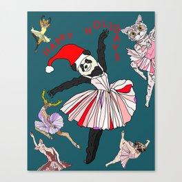 Hipster Holiday Ballerinas Canvas Print