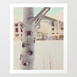 Aspen Tree Jackson Hole Mangy Moose Art Print