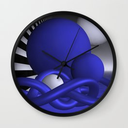 knots and spheres - blue Wall Clock