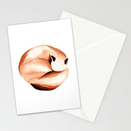 Sleepy fox Stationery Cards