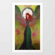 Tourmaline Angel of Harmony Art Print