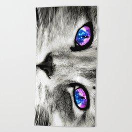Galaxy Cat Beach Towel