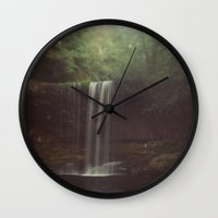 beaver Wall Clocks featuring Beaver Falls by Kevin Russ