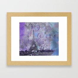 Purple Paris Watercolor Art Framed Art Print