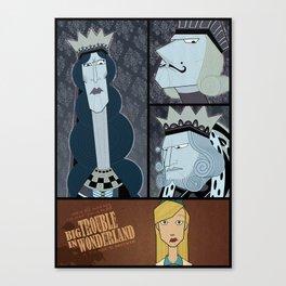 Big Trouble In Wonderland Canvas Print