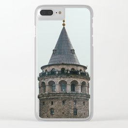 Galata Tower Clear iPhone Case