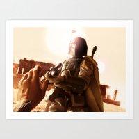 Art Print featuring Boba Fett - Stay Down! by jcalum2012