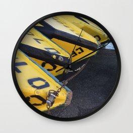 Yellow Boats Wall Clock