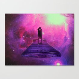Kiss into the universe Canvas Print