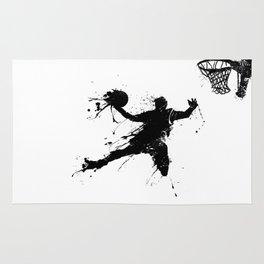 Slam dunk Basketballer Rug