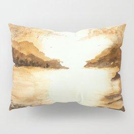 Golden Morn, Watercolor Beach Art Pillow Sham