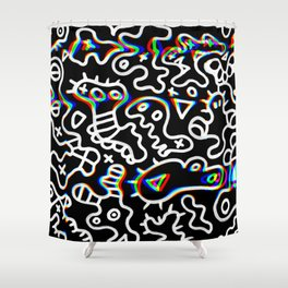 Hypnos microbes Shower Curtain