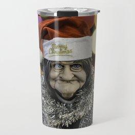 Christmas Grandma Bokeh Travel Mug