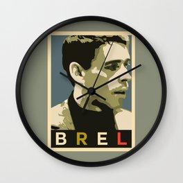 Jacques Brel Wall Clock