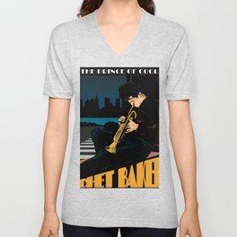 Baker's Jazz Poster Unisex V-Neck
