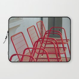 Red Chairs Laptop Sleeve