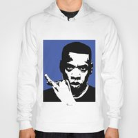 jay z Hoodies featuring Jay Z by Gary Barling