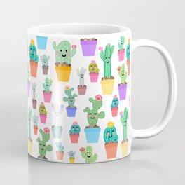 Sunny Happy Cactus Family Coffee Mug