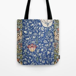 William Morris Victorian blue flowers Tote Bag