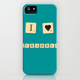 I heart Scrabble iPhone Case