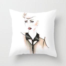 Edgy Gaze Throw Pillow