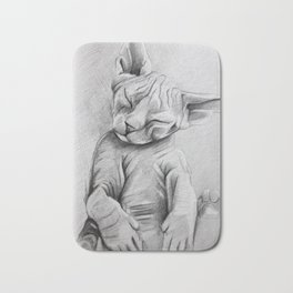 Sphynx cat Bath Mat