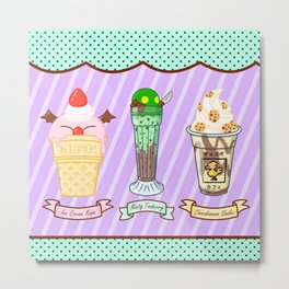 FF Frozen Treats Metal Print