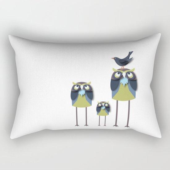 Long-Legged Owls Rectangular Pillow