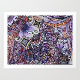 psychadelic sunrise Art Print