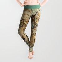 woman Leggings featuring Iron Woman 1 by Karen Hallion Illustrations