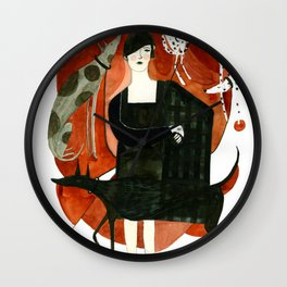 Fashion and Dogs Wall Clock