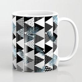 21s Century Memphis Style Pattern – Blue Coffee Mug
