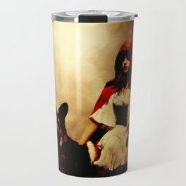 Red and Her Wolf Travel Mug
