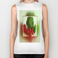 vegetables Biker Tanks featuring Fresh Vegetables by Art-Motiva