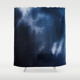 Watercolor Blue Shower Curtain