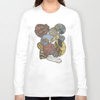 shells Long Sleeve T-shirts featuring Shells by Nina Gibson