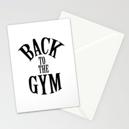 """ Fitness Collection "" - Back To The Gym Stationery Cards"