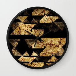 Miscellaneous shapes texture Wall Clock