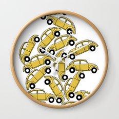 Slug Bug Pile Up Wall Clock