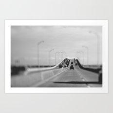3 mile bridge Art Print